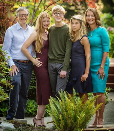Gia đình hạnh phúc của tỷ phú Bill Gates. Ảnh: CNBC.