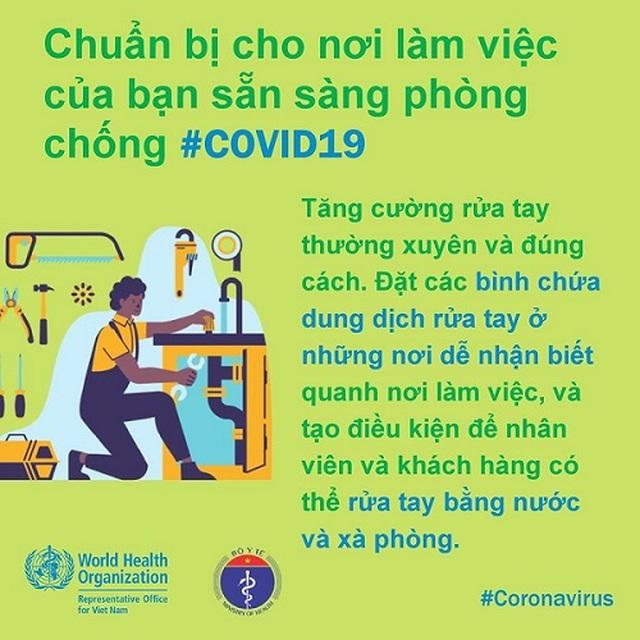 WHO khuyến cáo cách phòng chống Covid-19 tại nơi làm việc - 2