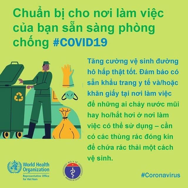 WHO khuyến cáo cách phòng chống Covid-19 tại nơi làm việc - 3