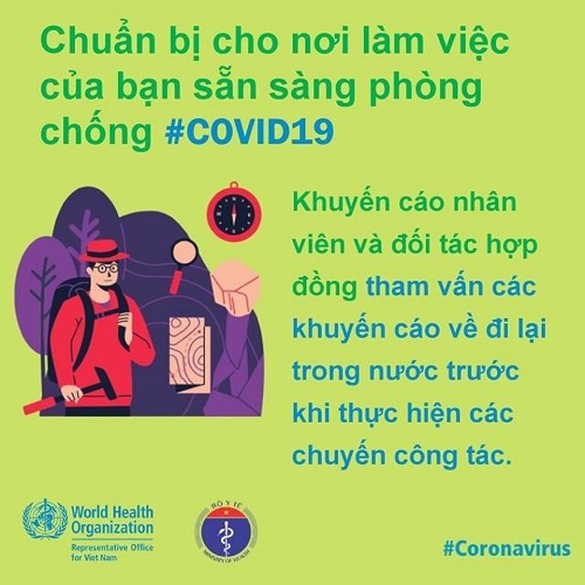 WHO khuyến cáo cách phòng chống Covid-19 tại nơi làm việc - 5