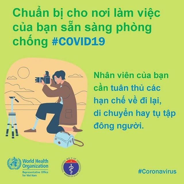 WHO khuyến cáo cách phòng chống Covid-19 tại nơi làm việc - 7